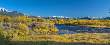 Head waters of the Salmon river in the fall Stock Images
