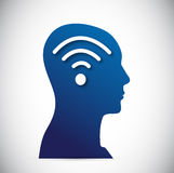 Head and wifi signal illustration design Royalty Free Stock Photo