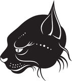 Head of wild cat royalty free illustration