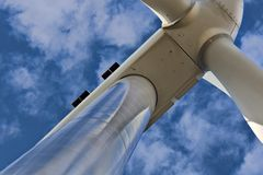 Head of a wind turbine Stock Photo