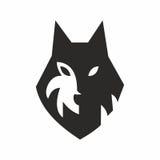 Head wolf logo Royalty Free Stock Photos