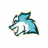 Head wolf mascot logo Royalty Free Stock Photo