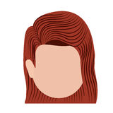 Head woman isolated icon design Royalty Free Stock Photography