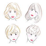 Head women, vector Royalty Free Stock Image