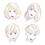 Head women, vector Royalty Free Stock Image