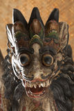 Head of a wooden Balinese singha Royalty Free Stock Images