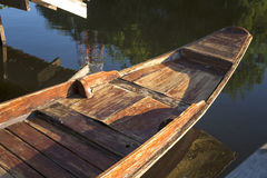 The head of wooden boat Royalty Free Stock Images