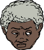Head of worried Black man Stock Photo