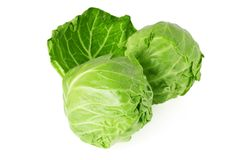 Head of young cabbage Stock Photo