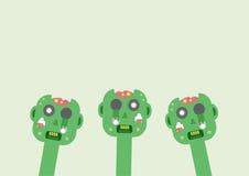 Head of zombies. Stock Photo
