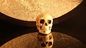 Head zooma för mänsklig skalle arkivfilmer