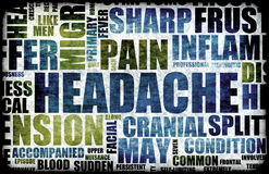 Headache. Severe Headache Medical Condition as a Background Stock Photography