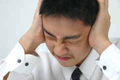 Headache. Close-up young businessman Royalty Free Stock Image