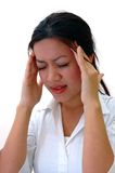 Headache. Worker with headache Royalty Free Stock Photo