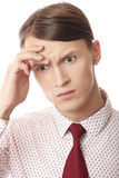 Headache in business Stock Image