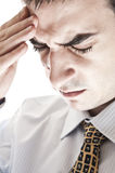 Headache of business man Stock Photography