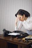 Headache business woman Stock Photos