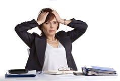 Headache by businesswoman Stock Photography