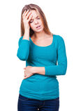 Headache. Royalty Free Stock Photo