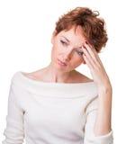 Headache, depression Stock Photo