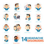 Headache disorders Royalty Free Stock Image