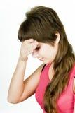 Headache girl Stock Image