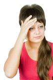 Headache girl Royalty Free Stock Image