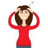 Headache girl. High blood pressure concept. Vector. Headache girl. High blood pressure concept Royalty Free Stock Photo