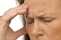 Headache Grief Worry or Fatigue Royalty Free Stock Photos