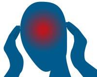 Headache. Holding hands near head. Vector illustration Royalty Free Stock Photo