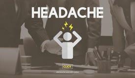 Headache Illness Sick Sad Migraine Concept Stock Photos