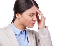 Headache is killing. Royalty Free Stock Image