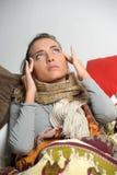 Headache migraine Stock Images