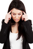 Headache or migraine concept Stock Photography