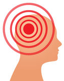 Headache or migraine concept Stock Images