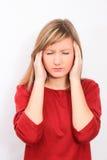 Headache migraine Stock Photography