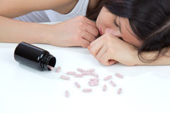 Headache pills medicine tablets Royalty Free Stock Image