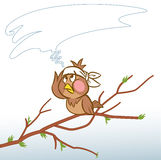 Headache a sparrow Stock Photo