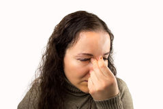 Headache and Stress at work Stock Image