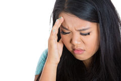 Headache and Stress at work. Royalty Free Stock Images