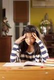 Headache student Royalty Free Stock Photos
