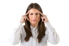 Headache Suffering from an Headache Royalty Free Stock Images