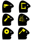 Headache Symbols Royalty Free Stock Image