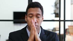 Headache, Upset Tense Young Black Businessman. Young creative designer , good looking stock video