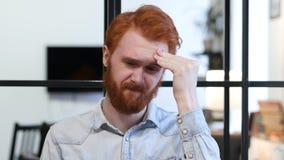 Headache, Upset Tense Young Man Royalty Free Stock Photo