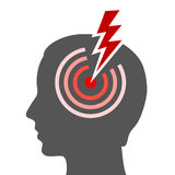 Headache. Vector illustration on white background Royalty Free Stock Photo