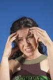 Headache woman Royalty Free Stock Photos
