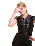 Headache. Woman suffering from head pain . Stock Images