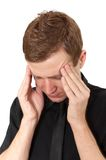 Headache at work Royalty Free Stock Photo