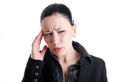 Headache at work Stock Photography